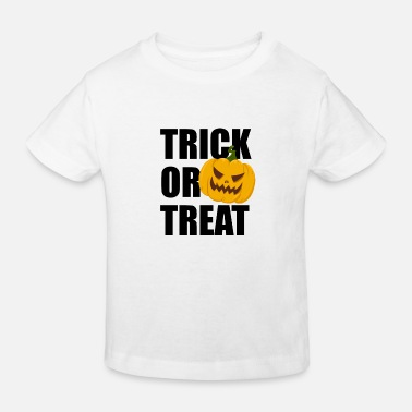 Halloween Trick or Treat Horror Pumpkin Pumpkin - Økologisk T-shirt til børn