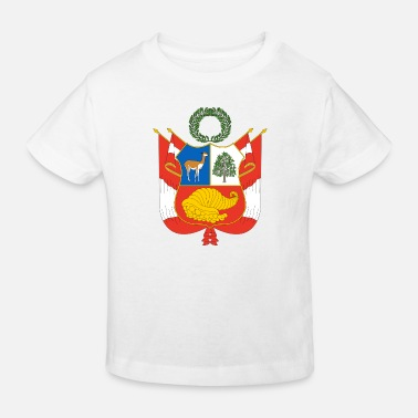 Lake Titicaca National Coat of Arms of Peru - Kids' Organic T-Shirt