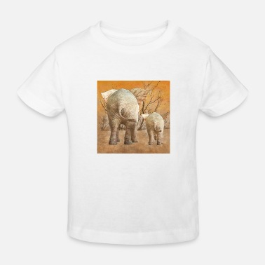Steppe Elefantenpopos in der Steppe - Kinder Bio T-Shirt