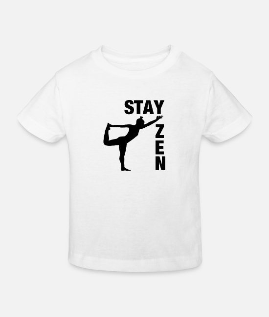 Yogi Baby Clothes - Stay Zen Mediation Yoga - Kids' Organic T-Shirt white