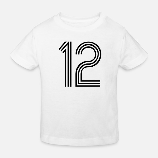 Race Baby Clothes - 12, best football, fußball, football, soccer, - Kids' Organic T-Shirt white