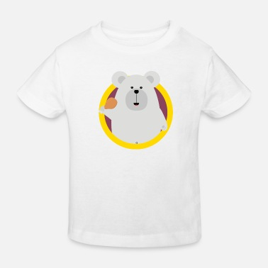 Chicken Legs Polar bear with a chicken leg - Kids' Organic T-Shirt