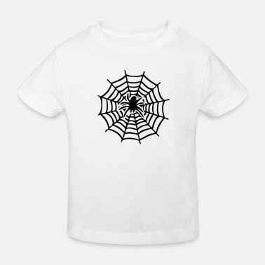 Web web with spider - Kids' Organic T-Shirt