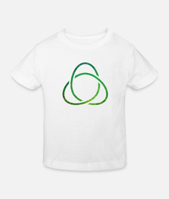 Groen T-shirts - Celtic Knot - Kinderen bio T-shirt wit