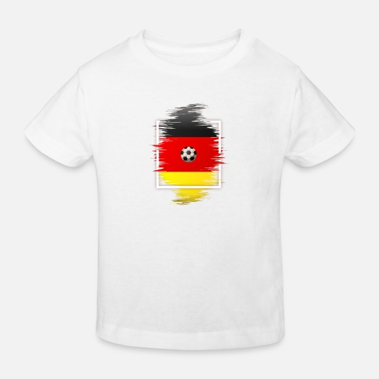 National Team Baby Clothes - black red gold colors soccer germany flag - Kids' Organic T-Shirt white