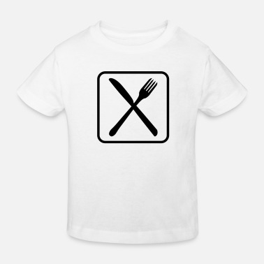 Cutlery Eat Cutlery Logo Design - Kinder Bio T-Shirt