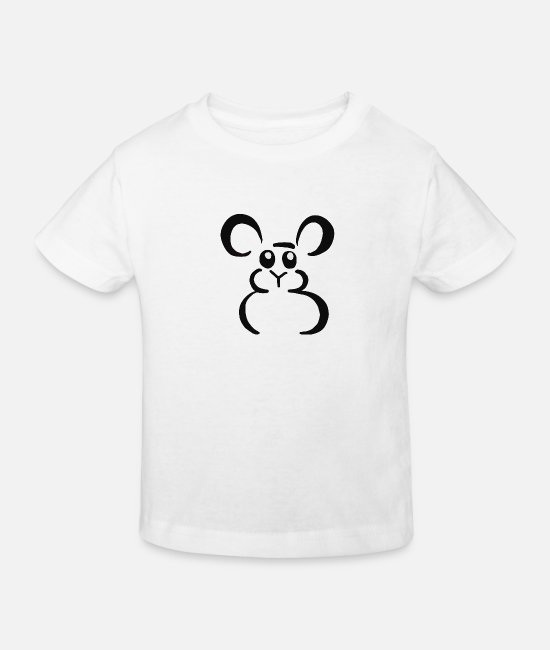 Mouse Baby Clothes - Sweet mouse - Kids' Organic T-Shirt white