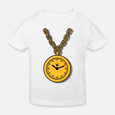 Clock clock, chain - Kinderen bio T-shirt