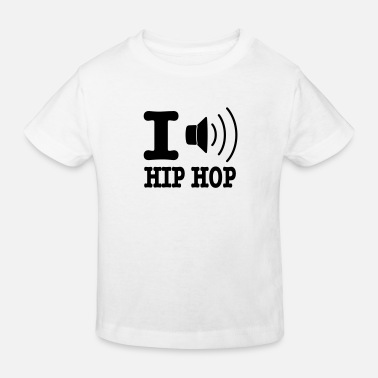I Love Hiphop I love hiphop / I speaker hiphop - Kids' Organic T-Shirt