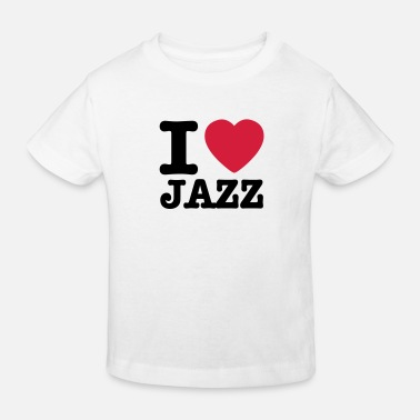 Dixieland I love jazz / I heart jazz - Kids' Organic T-Shirt