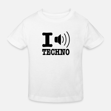 I Love Techno I love techno / I speaker techno - Kinderen Bio-T-shirt