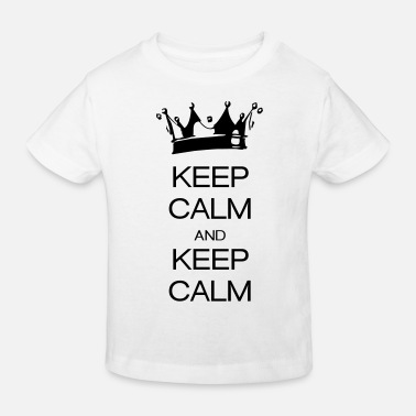 Keep Calm keep calm and keep calm - Kinderen bio T-shirt
