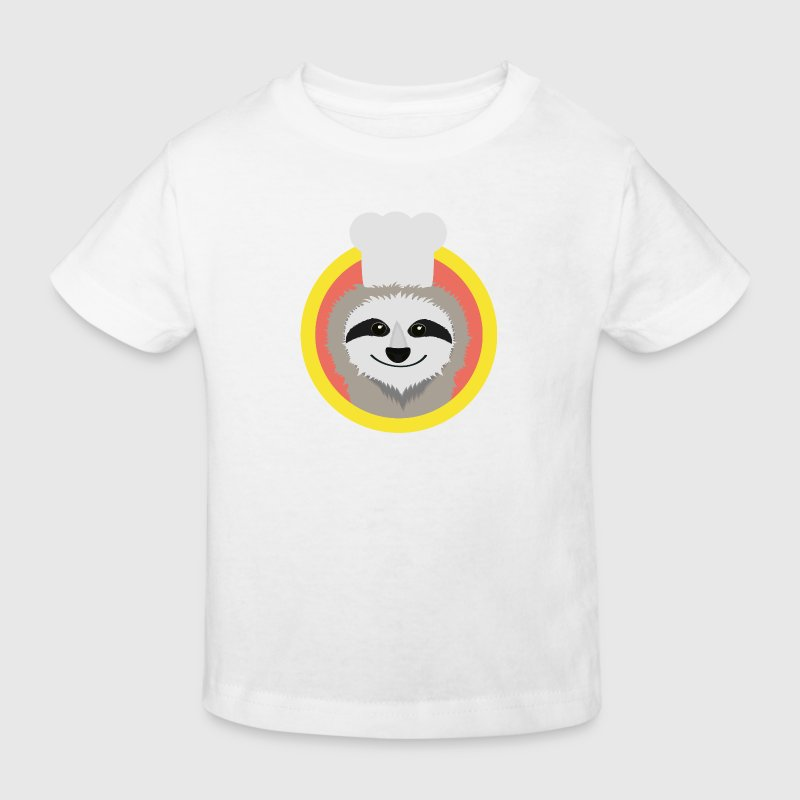 Sloth chef Hat - Kids' Organic T-shirt