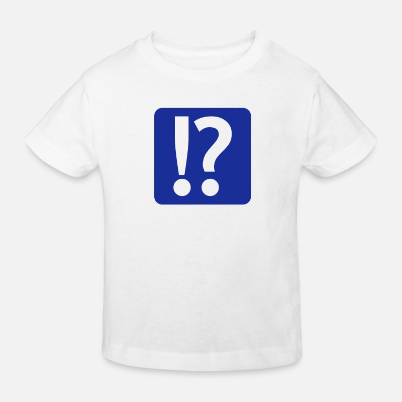 Question Mark T-Shirts - exclamation mark and question mark - Kinderen bio T-shirt wit