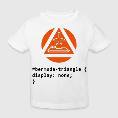Triangle CSS pun: The Bermuda Triangle - Kids' Organic T-Shirt