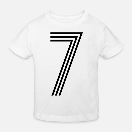 Race Baby Clothes - 7, best football, fußball, football, soccer, - Kids' Organic T-Shirt white