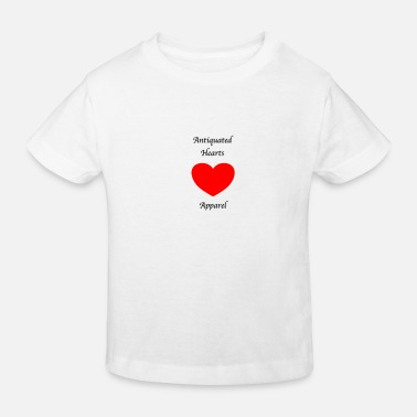 Antiquiert Antiquierte Herzen Gothic Writing - Kinder Bio T-Shirt