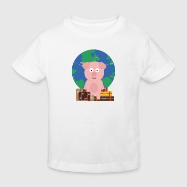 GlobeTrotter travel pig with case - Kids' Organic T-shirt