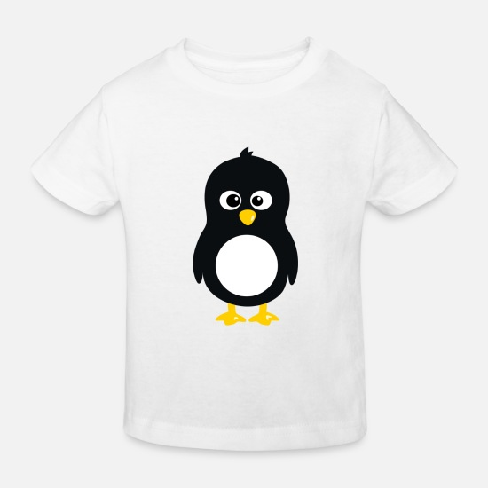 Computer Science Baby Clothes - Linux penguin - Kids' Organic T-Shirt white