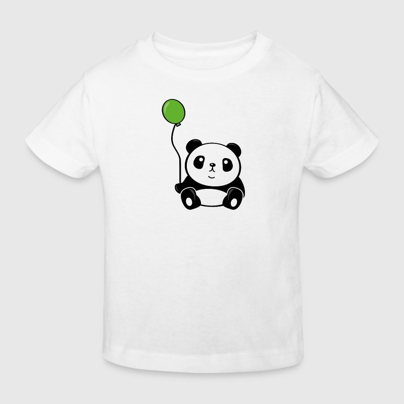 Panda bear with balloon - Kids' Organic T-shirt