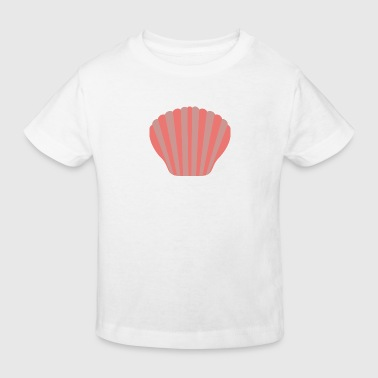 rode clam - Kinderen Bio-T-shirt