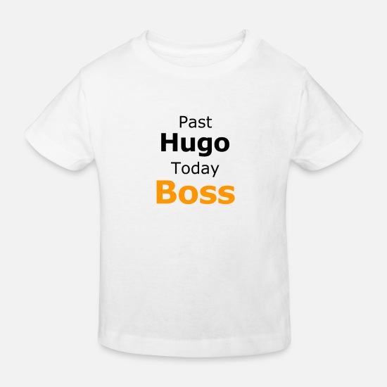 Talar Bebiskläder - Förbi Hugo Today Boss Orange - Ekologisk T-shirt barn vit