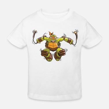 Michelangelo TMNT Turtles Michelangelo Springt - Kinder Bio T-Shirt