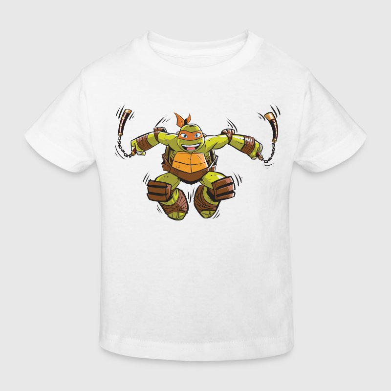 Tortues Ninja Michelangelo À L'Attaque - T-shirt bio Enfant