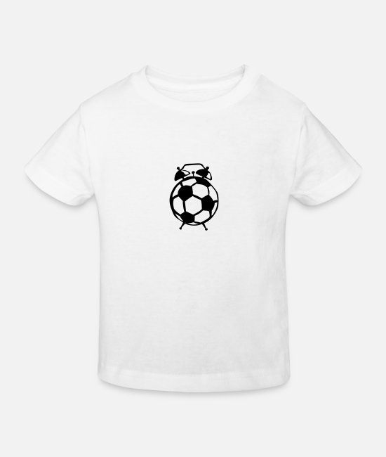 Soccer Baby Clothes - Football balloon alarm clock - Kids' Organic T-Shirt white