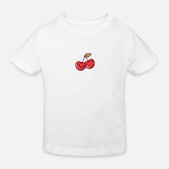 Gift Idea Baby Clothes - Sour cherry - Kids' Organic T-Shirt white