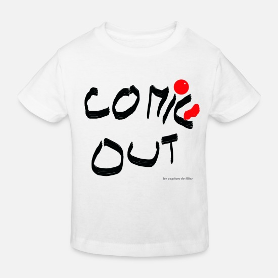 Comedy Vêtements Bébé - comic out - T-shirt bio Enfant blanc