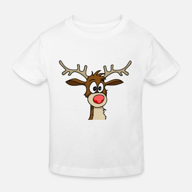 Rentier Cartoon Rentier - Kinder Bio-T-Shirt