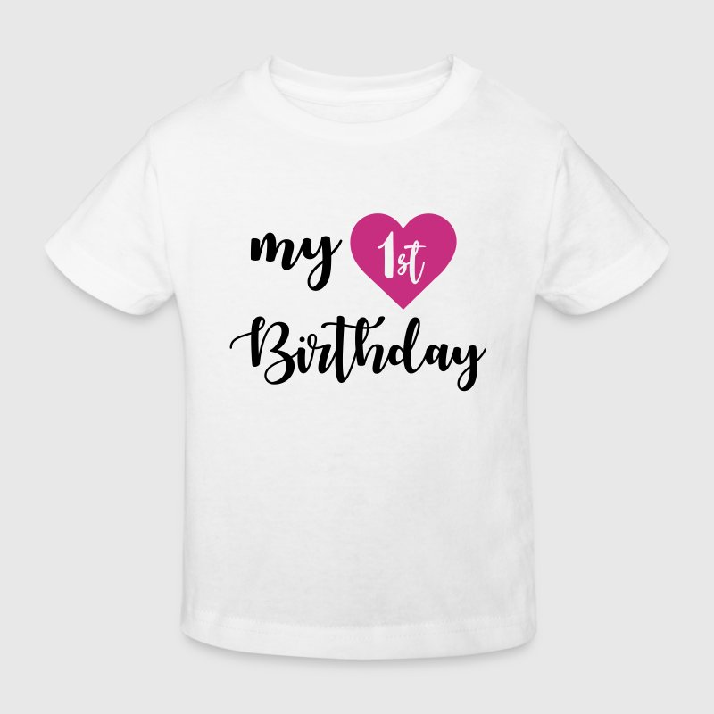 1st birthday - Kids' Organic T-shirt