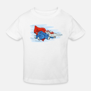 Comic Super Heroes Heroes Sup-o-fant flying again! - Kinder Bio-T-Shirt