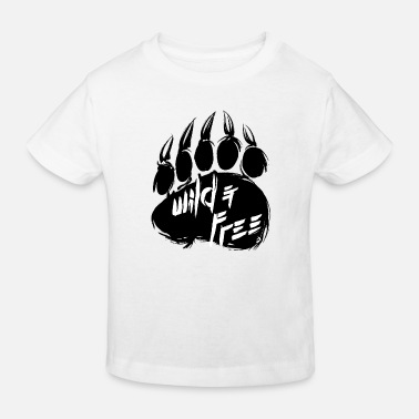 Jungs AD Bear Footprint - Kinder Bio T-Shirt