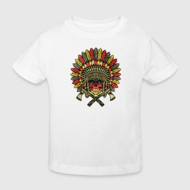Germany Football Indian Skull / Bones - Kids' Organic T-Shirt