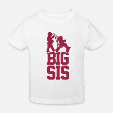 Big Sis Little Sis Big Sis Baby Car - Kids' Organic T-Shirt