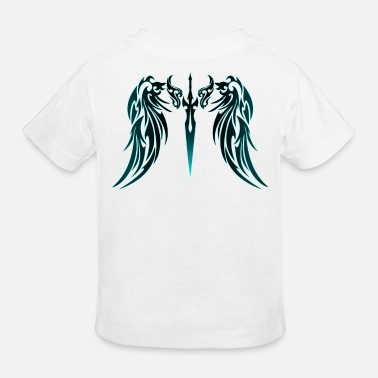 Tribal Tribal Tattoo Engelsflügel blau - Kinder Bio T-Shirt
