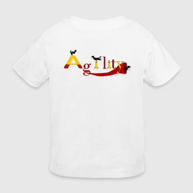 Border Collie Cartoon Agility: 3x Border Collie - Kids' Organic T-Shirt