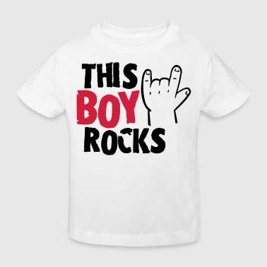 This Boy rocks - Kids' Organic T-shirt