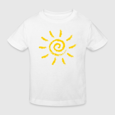 Sun, summer, spring, holiday, energy, spiral, - Kids' Organic T-shirt