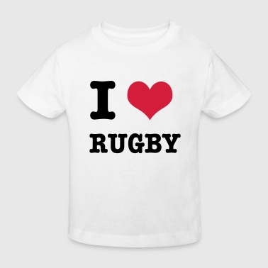 I Love Rugby - T-shirt bio Enfant