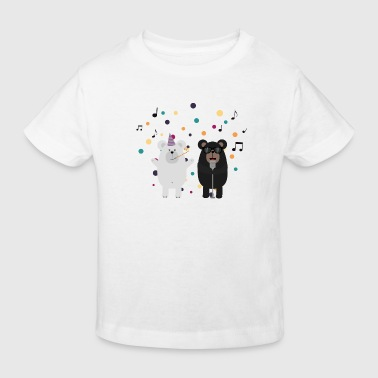Gesang-Party-Bären - Kinder Bio-T-Shirt