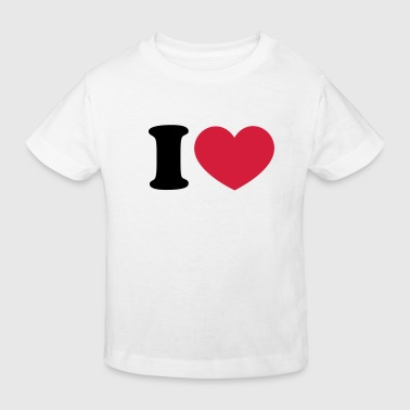 Football Heart I like love world champion winner - Kids' Organic T-Shirt