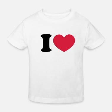 I Love Football Heart I like love world champion winner - Ekologisk T-shirt barn