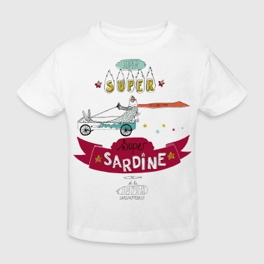 Super Sardine ROUGE - T-shirt bio Enfant