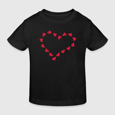 Heart and love x 16  - Organic børne shirt