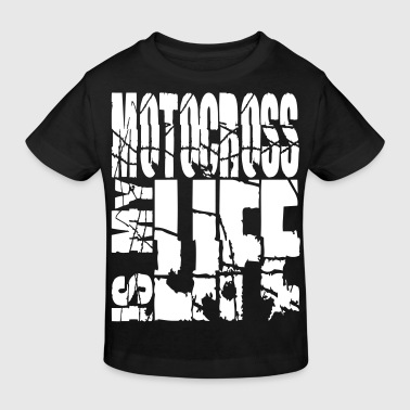motocross is my life - Økologisk T-skjorte for barn