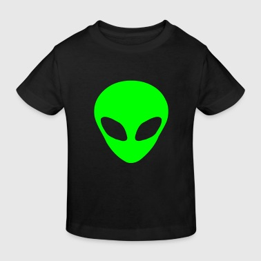 Alien kopf - Kinder Bio-T-Shirt