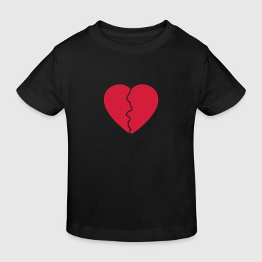 Love hurts / broken heart - Camiseta ecológica niño